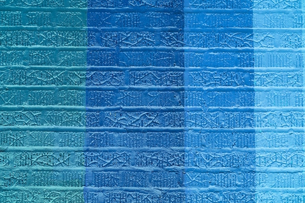 Parede de tijolos coloridos abstrato azul Foto gratuita