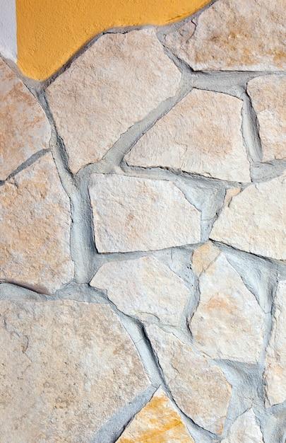 Parede, forrada, com, pórfiro, pedras, fundo Foto Premium