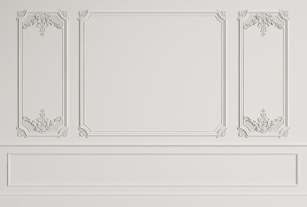 Parede interior clássica com molduras Foto Premium