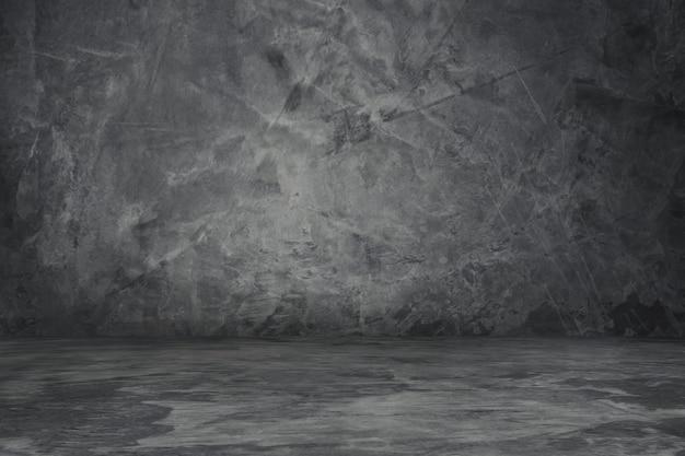 Parede vintage e piso concreto cinza cor de fundo Foto Premium