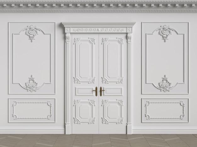 Paredes interiores clássicas com espaço de cópia Foto Premium