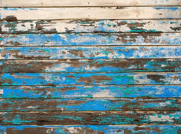 Paredes pintadas de madeira do caribe mahahual Foto Premium