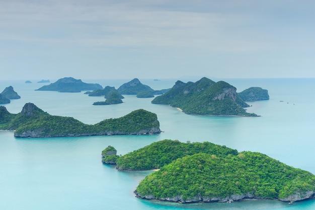 Parque nacional mu ko ang thong, ilha samui, tailândia Foto Premium