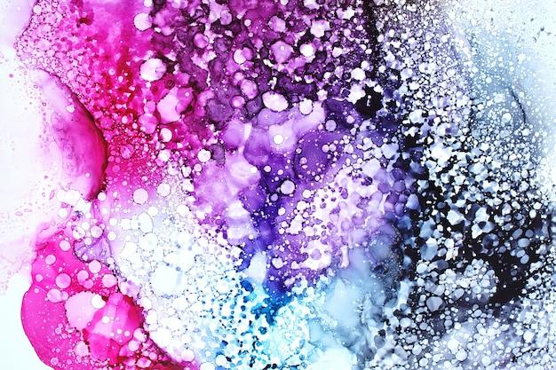 Parte da pintura original com tinta a álcool, fundo abstrato Foto Premium