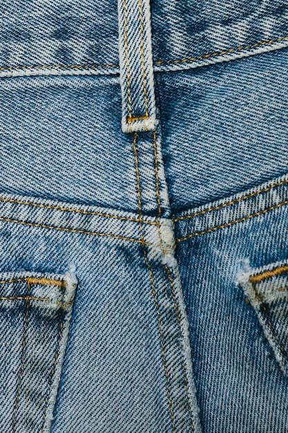 Parte de trás do jeans close-up Foto gratuita