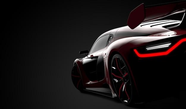 Parte traseira de um carro esporte moderno vermelho Foto Premium