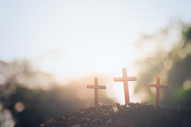Páscoa, cristianismo background copyspace. Foto gratuita