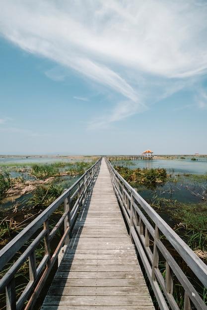 Passagem para o lago Foto gratuita