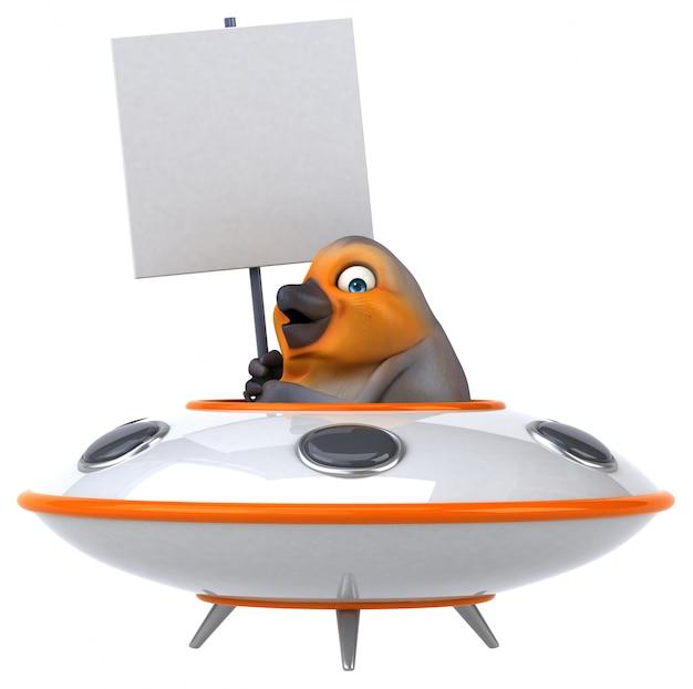 Pássaro divertido Foto Premium