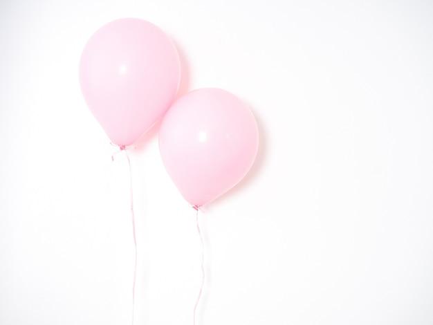 Pastel cor-de-rosa do balão em cinzento Foto Premium