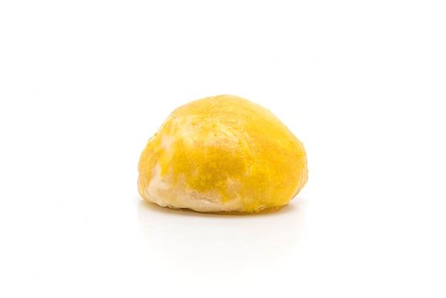 Pastelaria chinesa ou bolo de lua recheada com pasta de feijão mungo e gema de ovo salgada Foto Premium