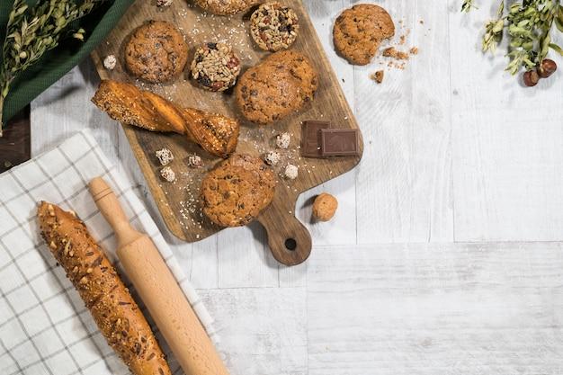Pastelaria doce caseira fresca Foto Premium