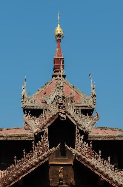 Pavilhão do sino de mingun, myanmar Foto Premium
