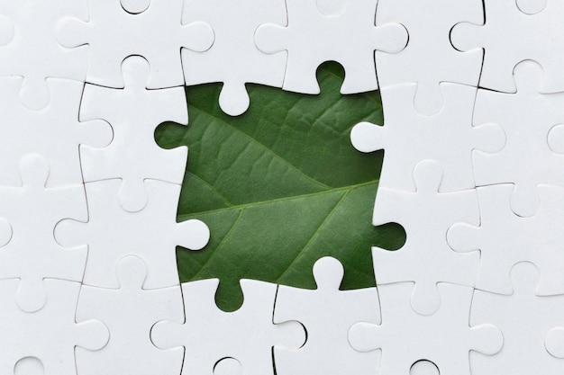 Peça de quebra-cabeça de natureza Foto Premium