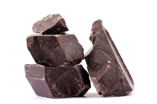 Pedaços de chocolate Foto Premium