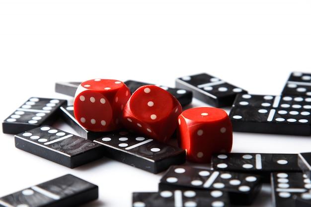 Pedaços de dominó Foto Premium
