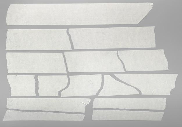 Pedaços de fita adesiva rasgada isolados Foto Premium