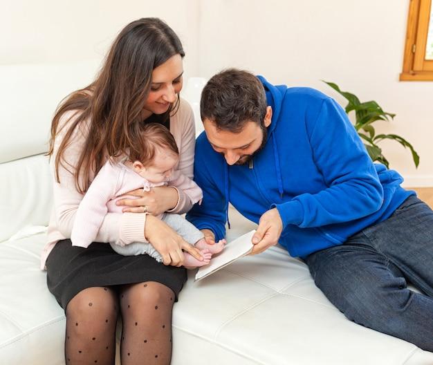 Pegada de um recém-nascido Foto Premium
