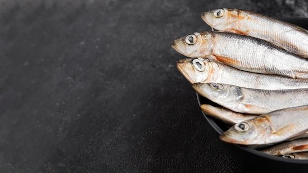 Peixe fresco delicioso em um prato Foto gratuita