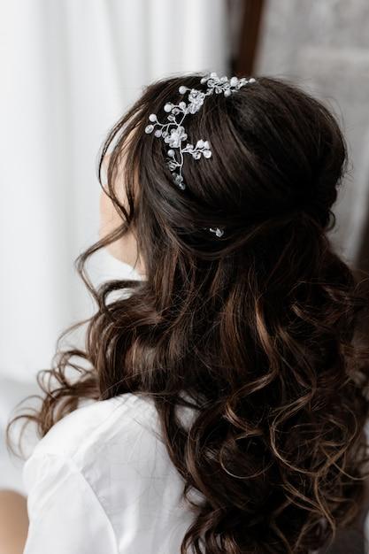 Penteado de noiva fechar Foto gratuita