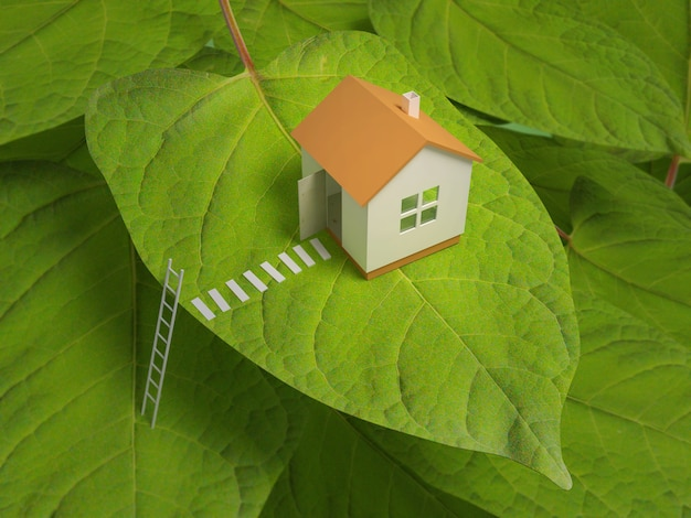 Pequena casa em uma árvore. Foto Premium