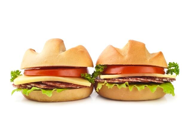 Pequenos sanduíches Foto Premium