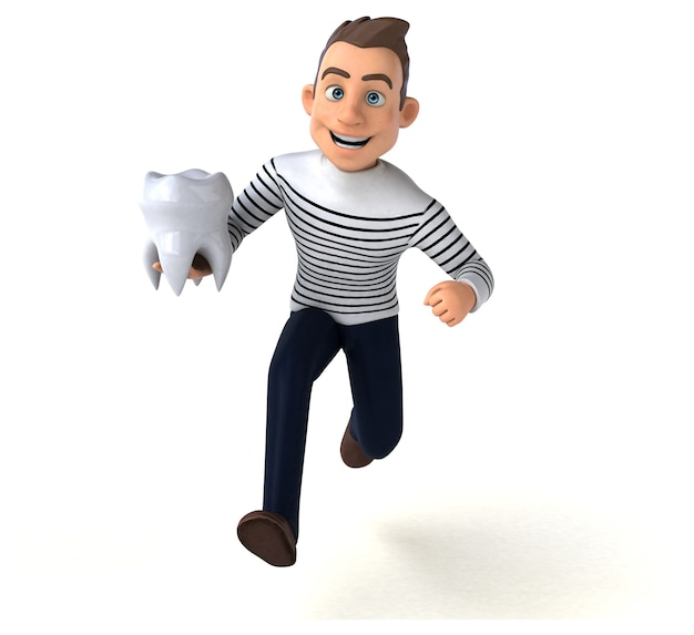Personagem casual de desenho animado 3d divertido Foto Premium