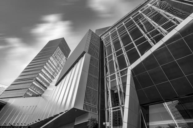 Perspectiva pessoal da paisagem arquitetônica contemporânea da cidade Foto Premium