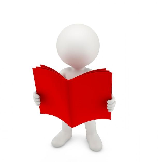 Pessoa com um livro vermelho aberto Foto Premium