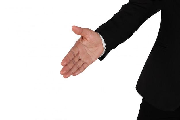 Pessoa de negócios solicitando permissão para apertar as mãos Foto Premium