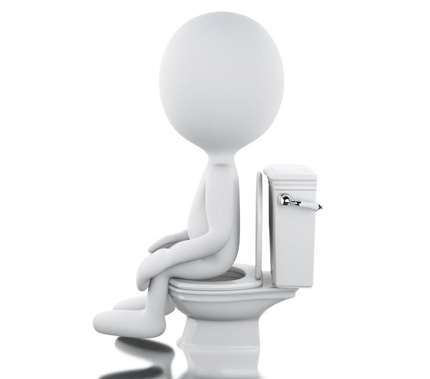 Pessoas brancas 3d no banheiro Foto Premium