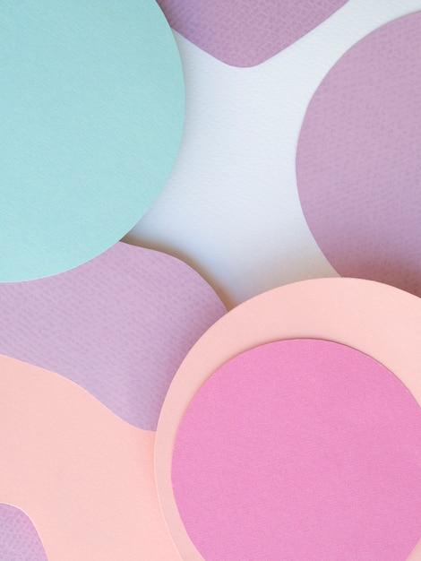 Pilha de círculos de papel fundo geométrico Foto gratuita