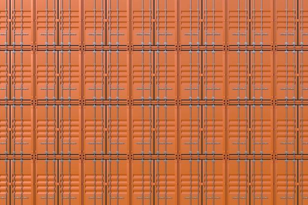 Pilha de fundo de contêineres de carga marrom navio Foto Premium