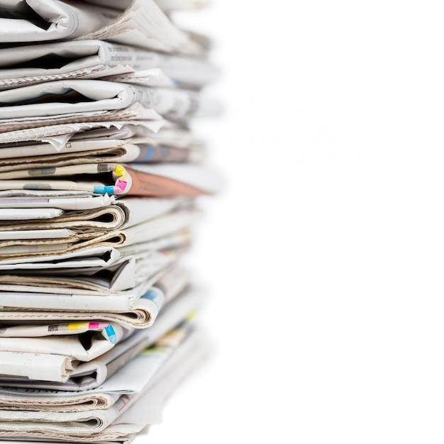 Pilha de jornais Foto Premium