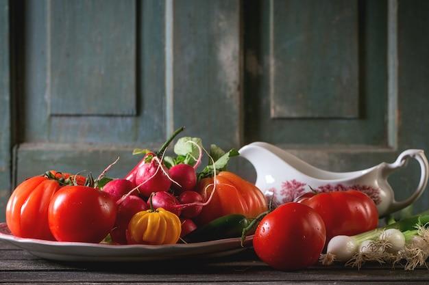 Pilha de legumes Foto Premium
