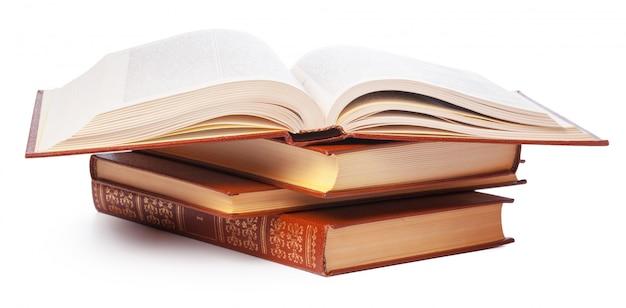 Pilha de livros isolados Foto Premium