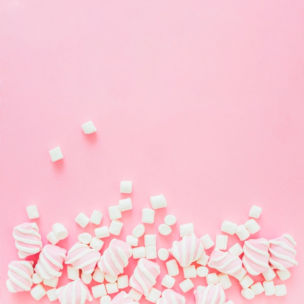 Pilha de marshmallows Foto gratuita