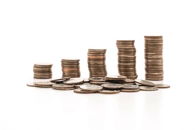 Pilhas de moedas Foto gratuita