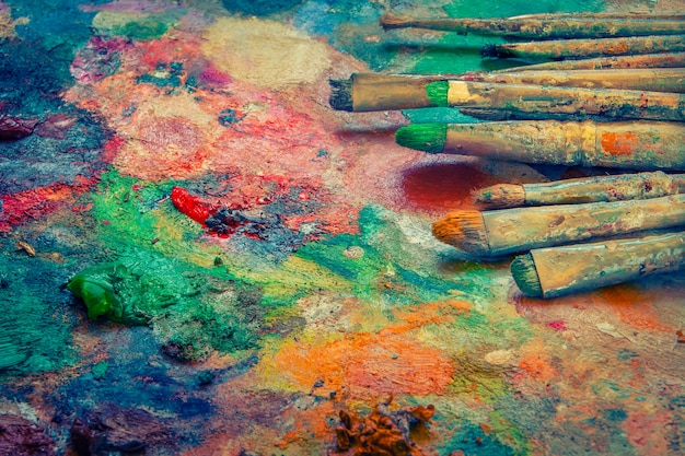 Pincéis artísticos Foto Premium