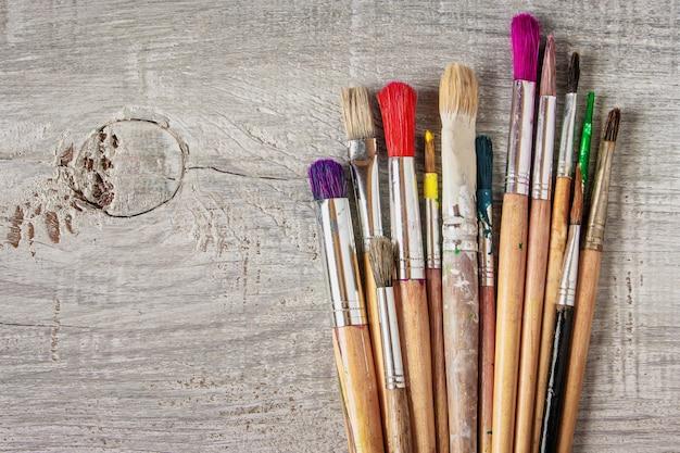 Pincéis para pintura Foto Premium