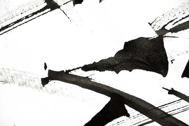 Pinceladas abstratas e salpicos de tinta no papel Foto Premium
