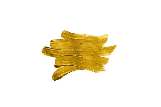 Pinceladas de cor guache dourada Foto Premium