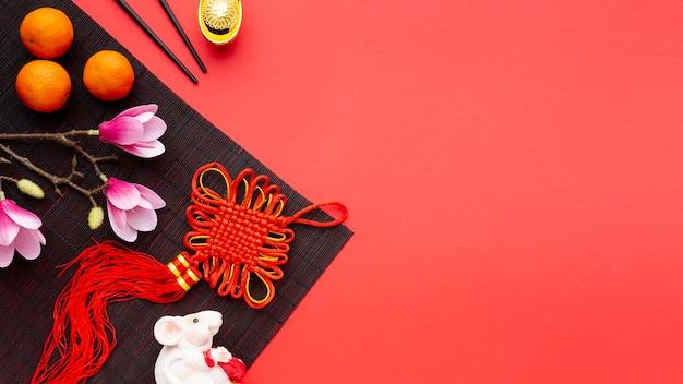 Pingente e magnólia ano novo chinês Foto gratuita