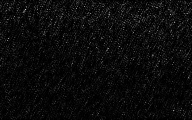 Pingos de chuva caindo isolados no fundo escuro. Foto Premium