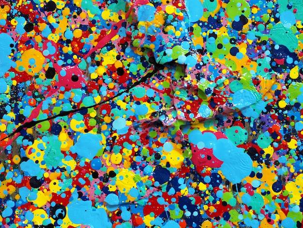 Pintando a textura colorida. as cores brilhantes abstratas do fundo artísticas espirram. Foto Premium
