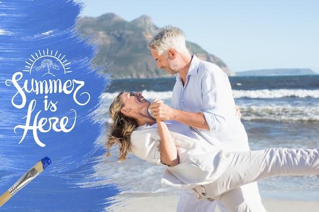 Pintar o romance temporada da costa da praia Foto gratuita
