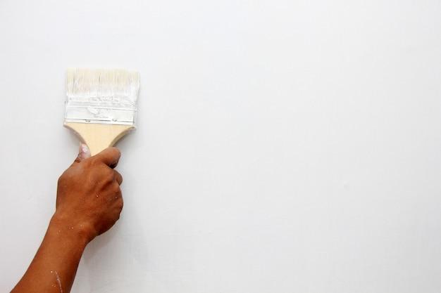 Pintar uma parede de uma casa Foto Premium