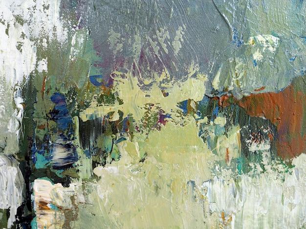 Pintura a óleo da tração da mão fundo bege do sumário da textura do curso da escova da cor na lona. Foto Premium