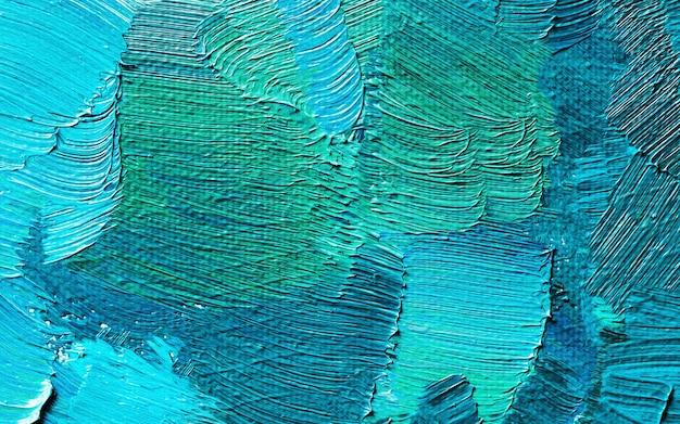 Pintura a óleo desenhada à mão. fundo da arte abstrata. textura de pintura a óleo Foto Premium