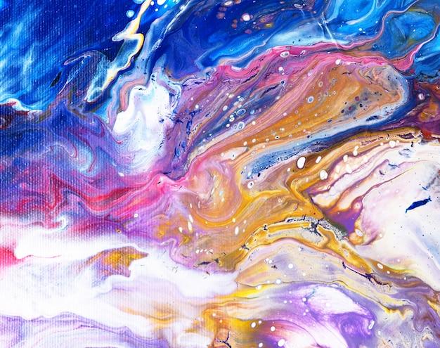 Pintura a óleo luxo natural colorido. abstrato. Foto Premium